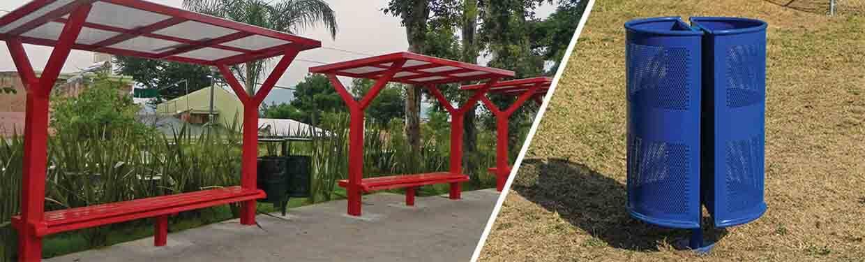 Mobiliario urbano para brindar un mejor aspecto a sus instalaciones